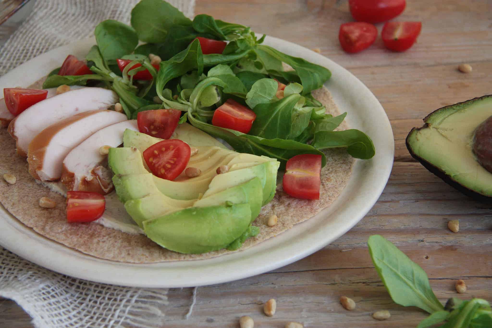 tortilla met avocado en Philadelphia