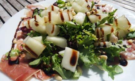 Frisse salade met meloen