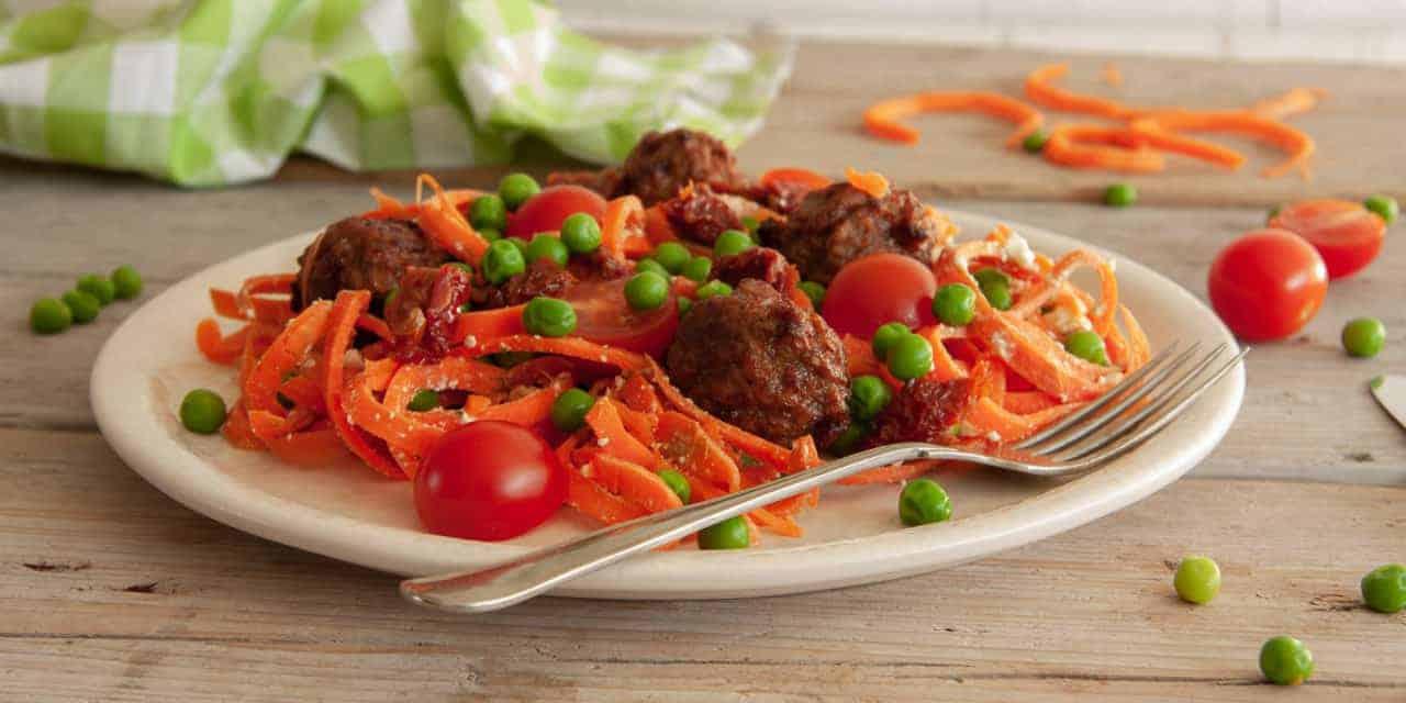 Supergezonde vegetarische wortelpasta