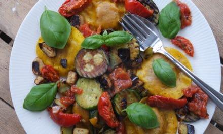 Pasta met gegrilde groenten