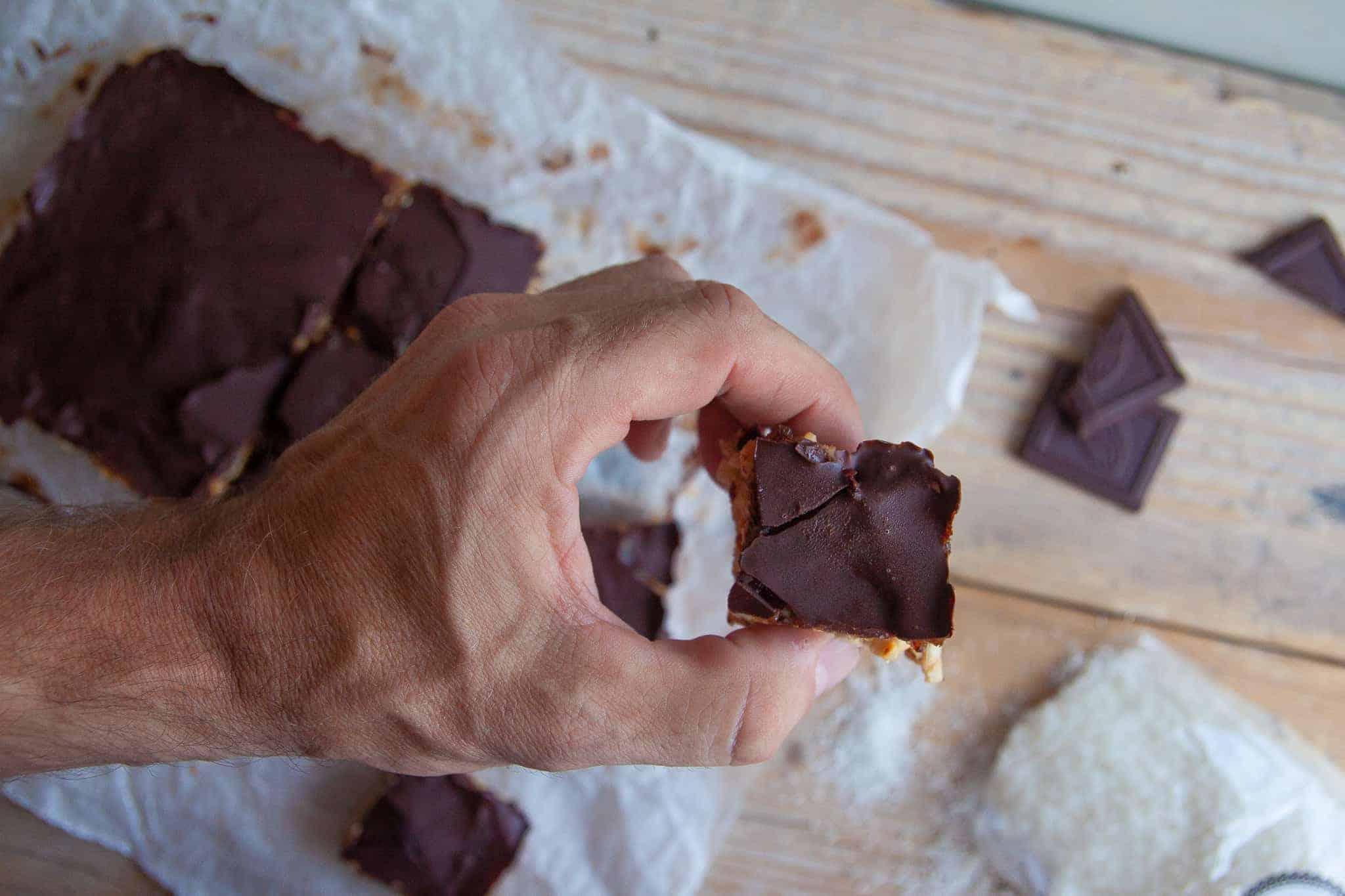 Snickers, gezondere versie, recept