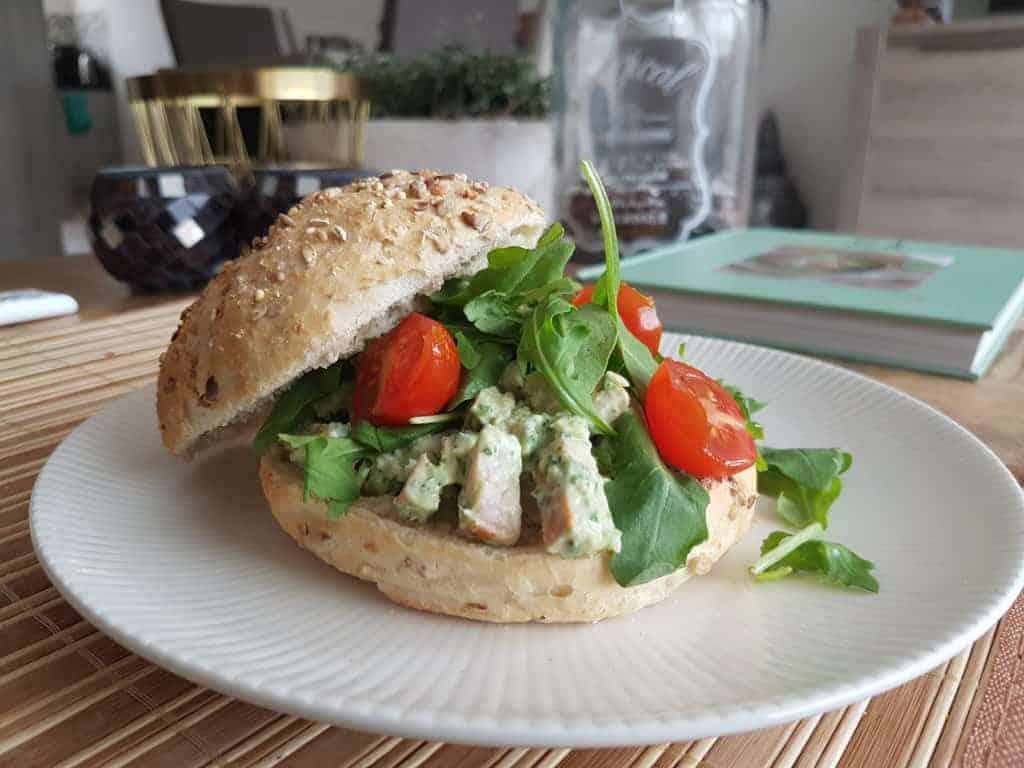 eiwitrijke kip salade
