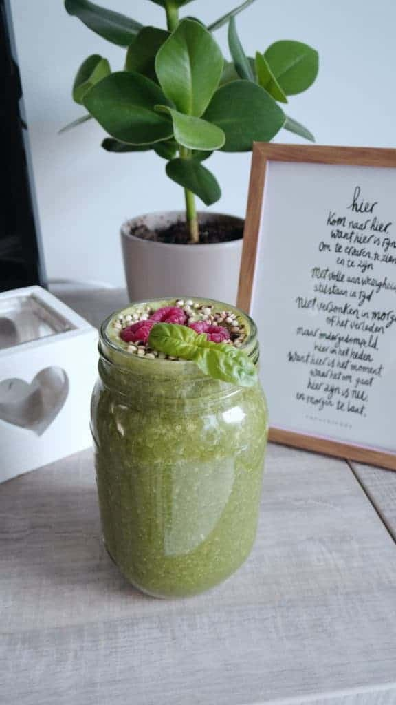 groene smoothie, smoothie met spinazie