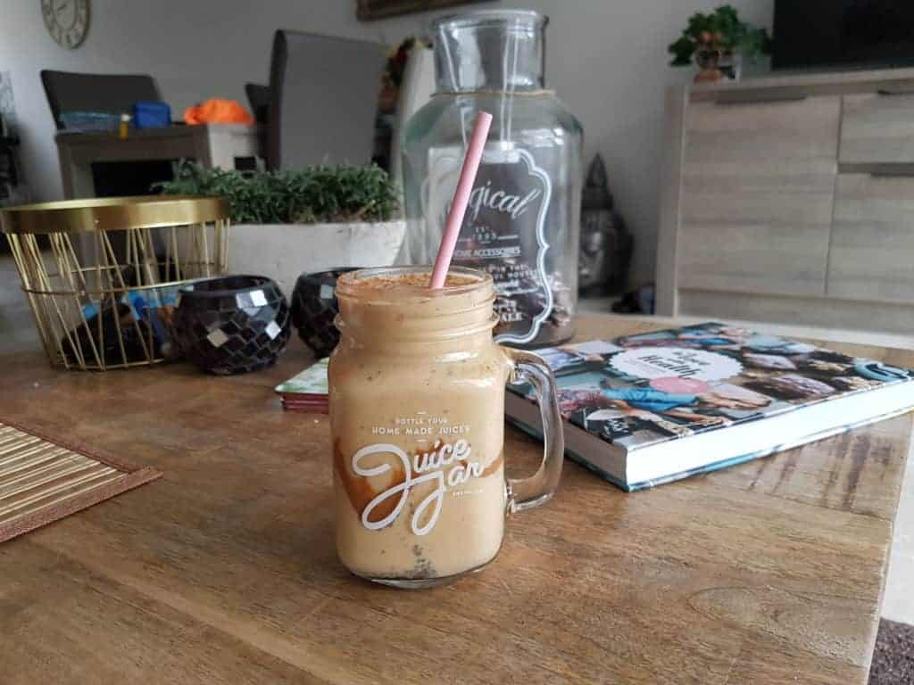 Mango Peanut butter smoothie