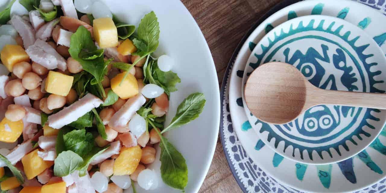 Simpele kip mango salade