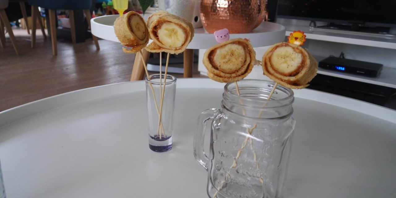 Voor de kids! Bananenpannenkoek met pindakaas