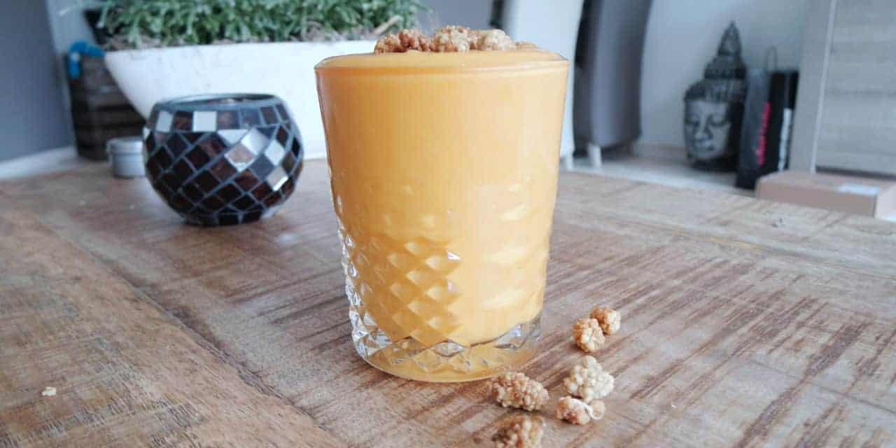 Subtropische smoothie met papaya