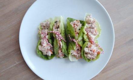 Sla wraps met tonijn en appel