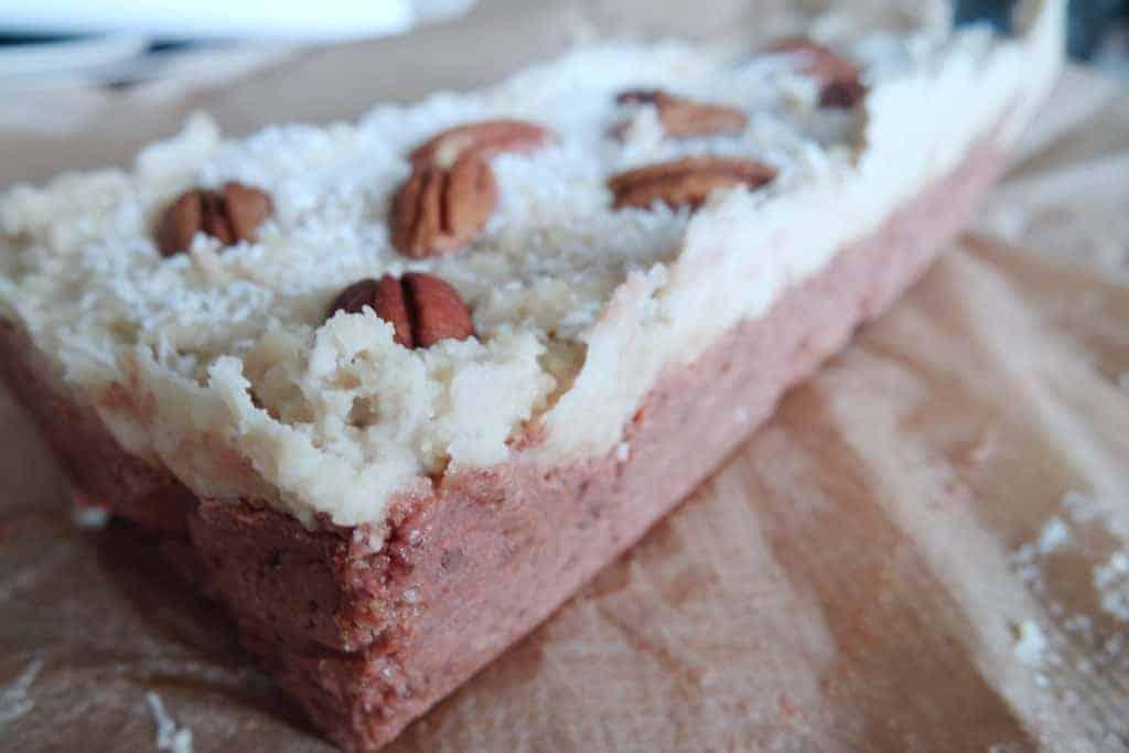 carrot cake, bar, eiwitrijk, eiwitten