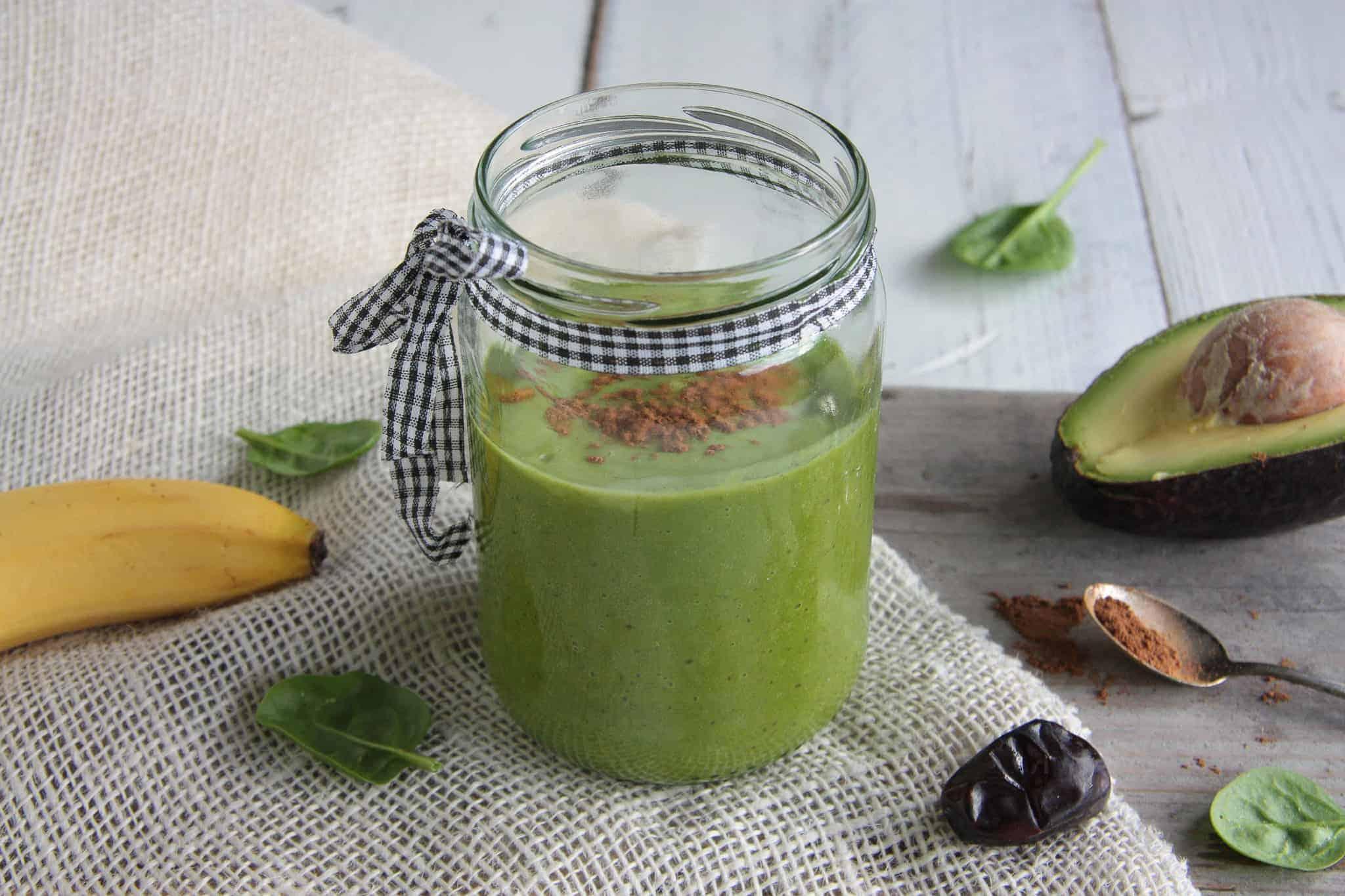 amandelmelk smoothie, groene smoothie, amandelmelk, groen, smoothie