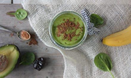 Amandelmelk smoothie, groen en gezond!