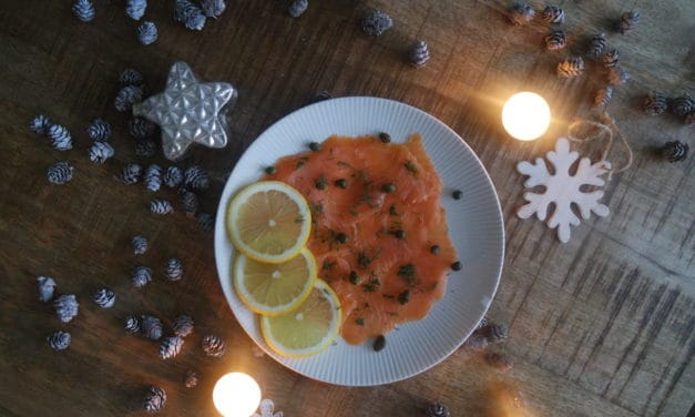 Kerst – Voorgerecht van zalmcarpaccio