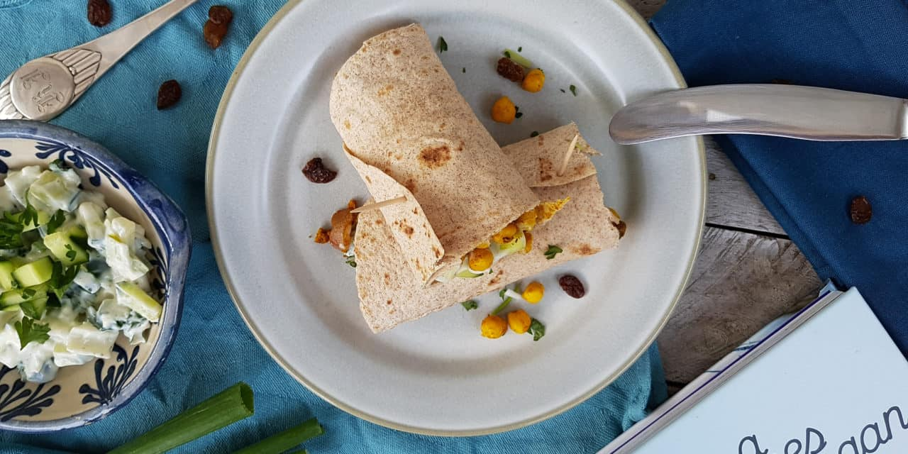 Curry-chickpea wrap