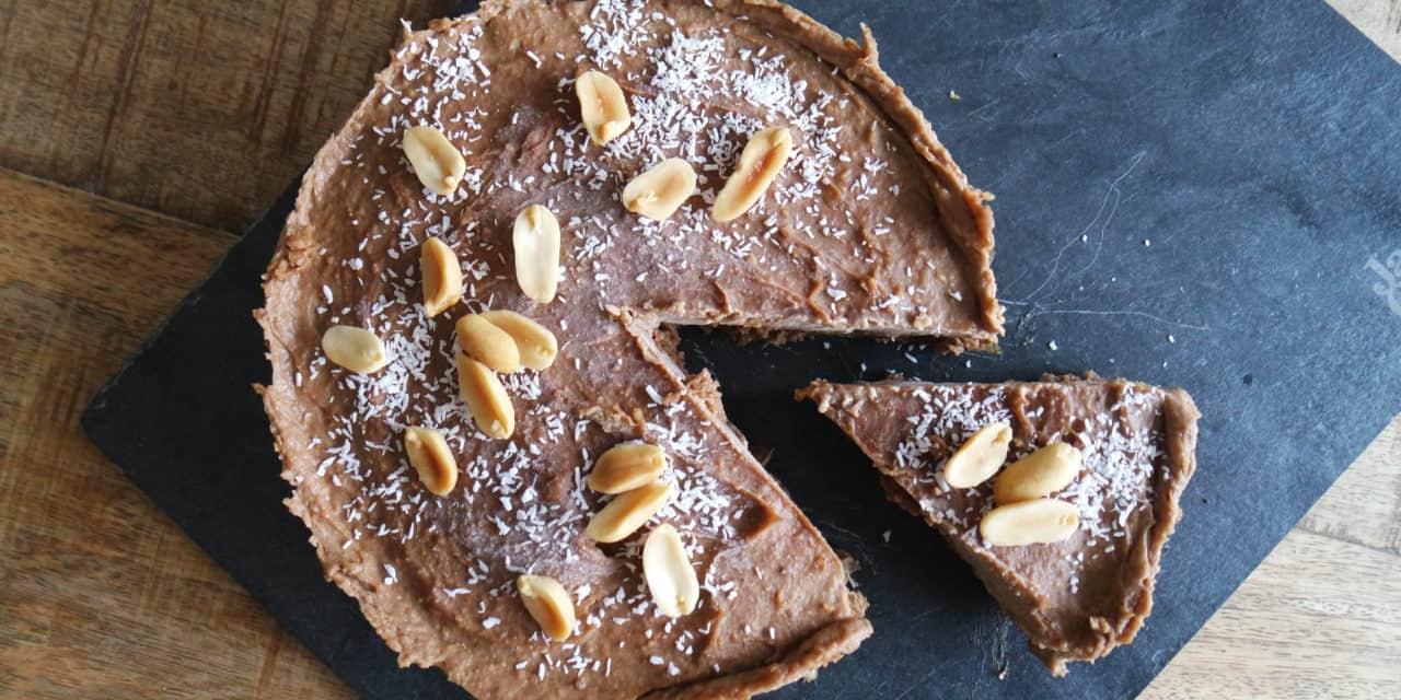 Pindakaas-taart met extra eiwitten