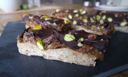 Pistache chocoladerepen met groente!
