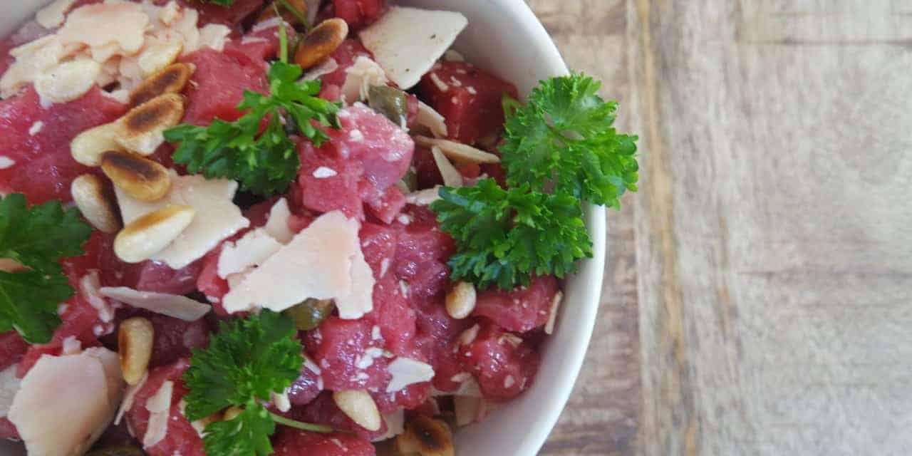 Biefstuk salade als beleg