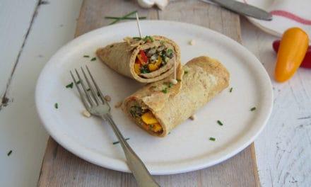 Glutenvrije eiwraps met lekker veel groente