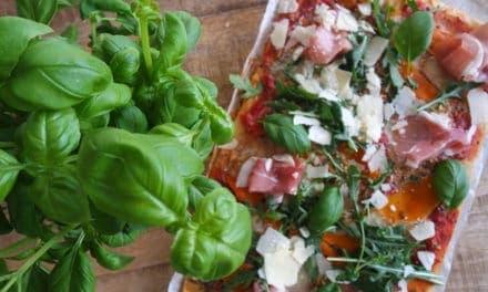 Snelle speltpizza met truffelmascarpone
