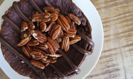 Ontbijten met chocolade havermouttaart