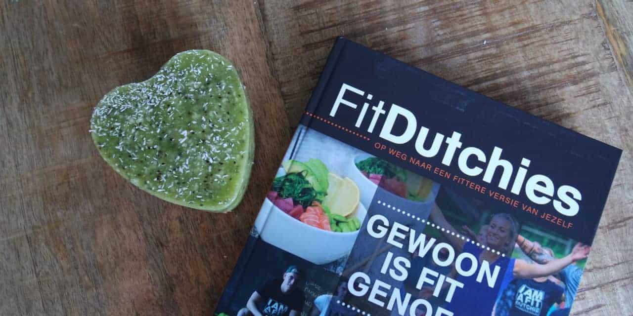 "Kiwi sorbet taart uit het boek ""Fitdutchies"""