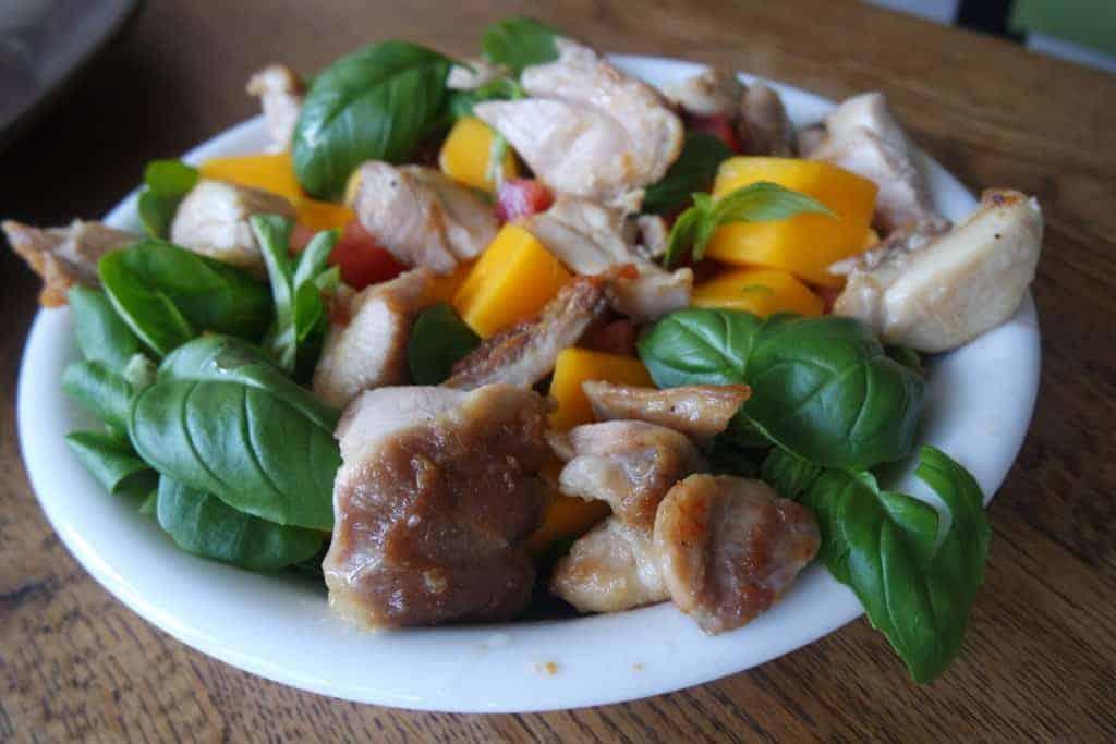 kippendijen salade