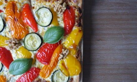 Plaattaart met gegrilde groenten