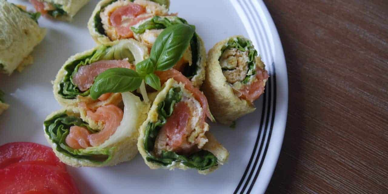Hartige sushi met zalm. Gezond en ook nog makkelijk te maken