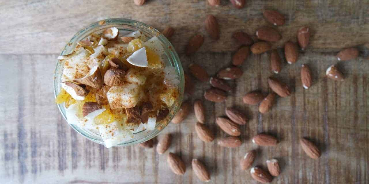Overnight oats met havermelk en appel