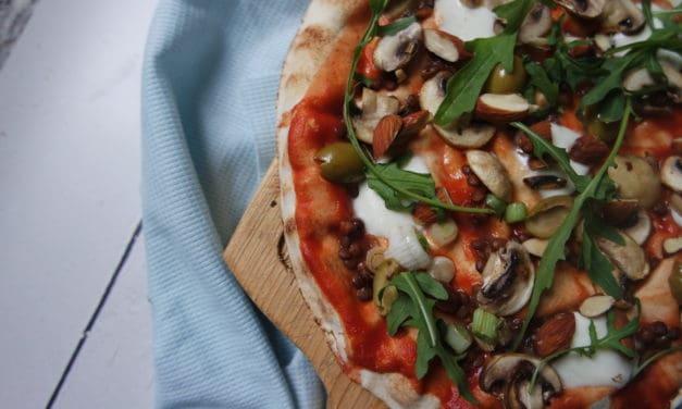 Speedpizza met champignons en burrata