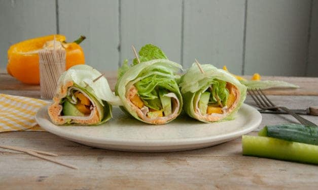 Snel en makkelijk: skinny sla wraps met kalkoen