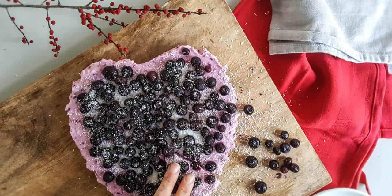 Valentijnstaart met een bodem van Oreo koekjes
