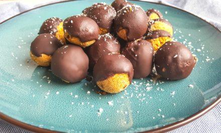 Gezonde chocoladetruffels met pompoen