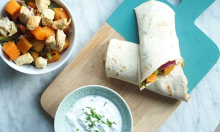 Curry wraps met kip en frisse dip