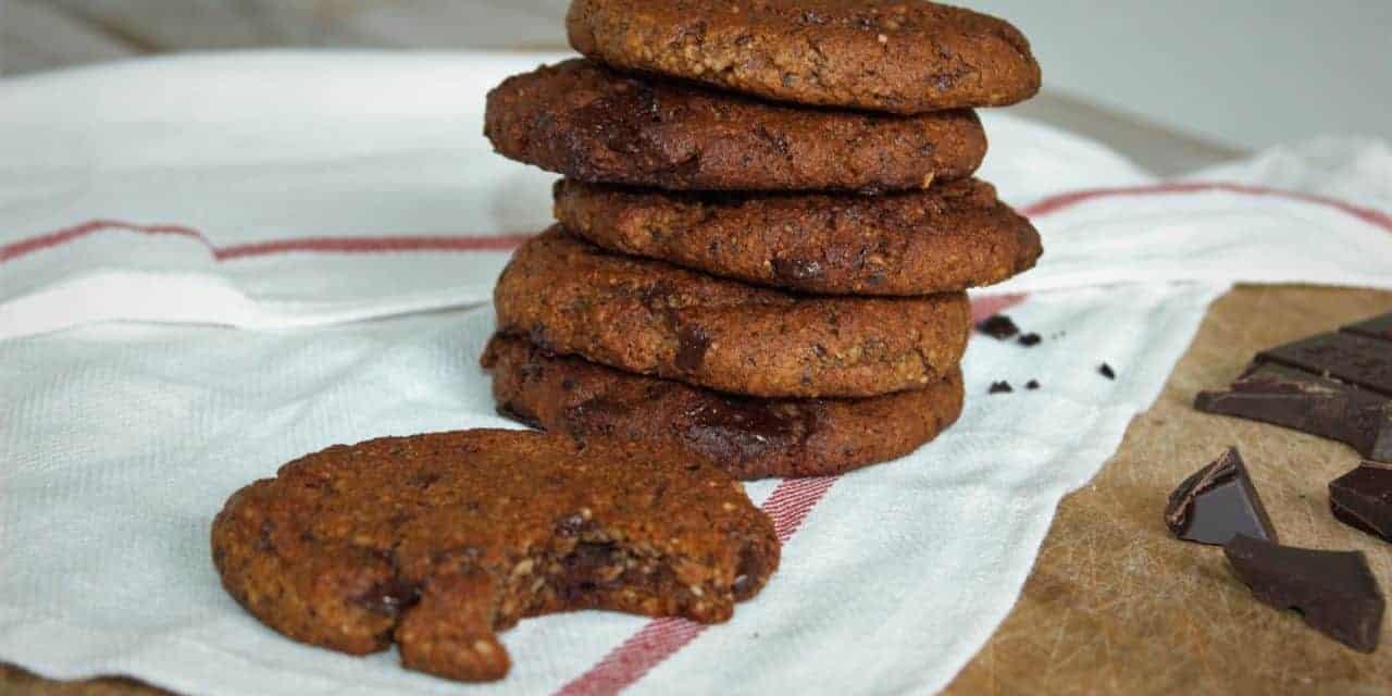 Gezonde chocolade chip koekjes