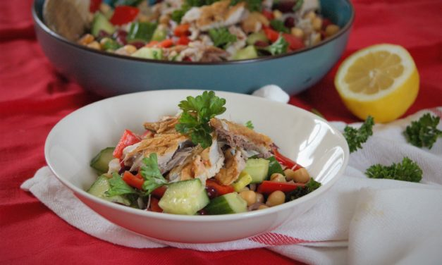 Super gezonde salade met makreel