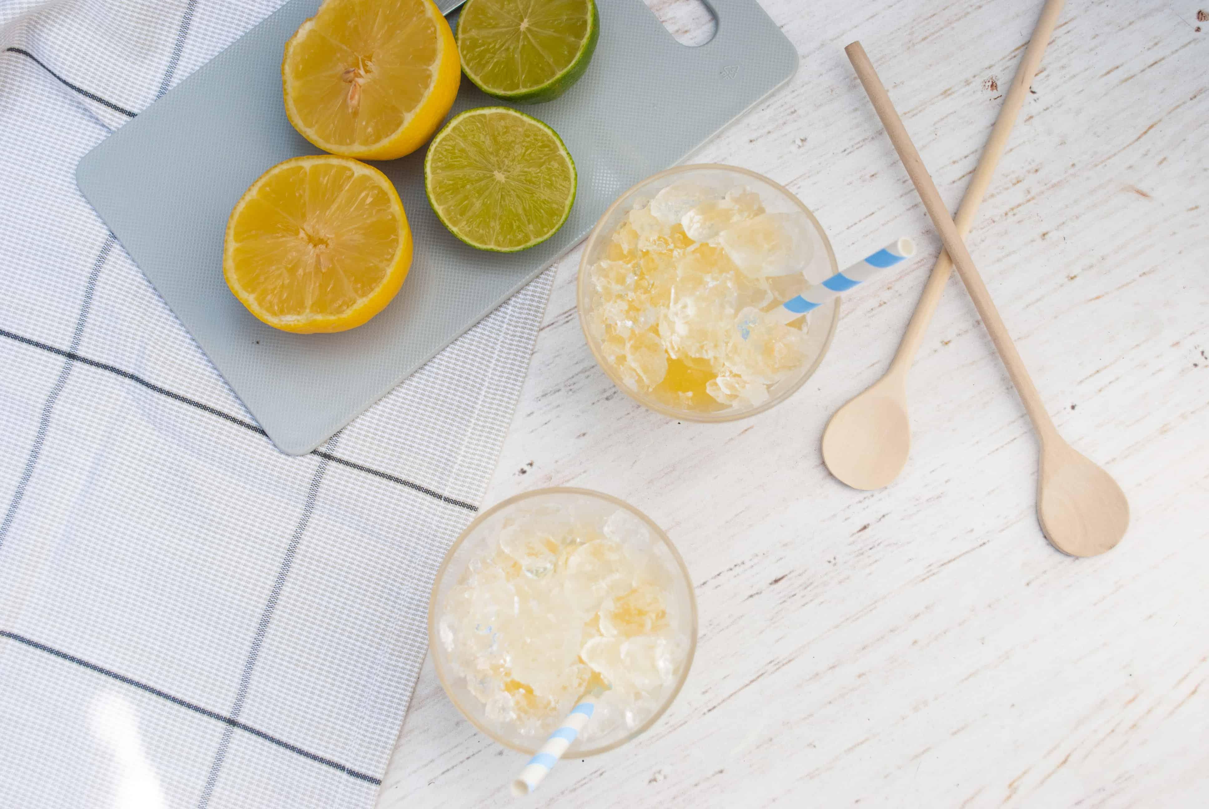 zelfgemaakt Surinaams schaafijs met citrussmaak