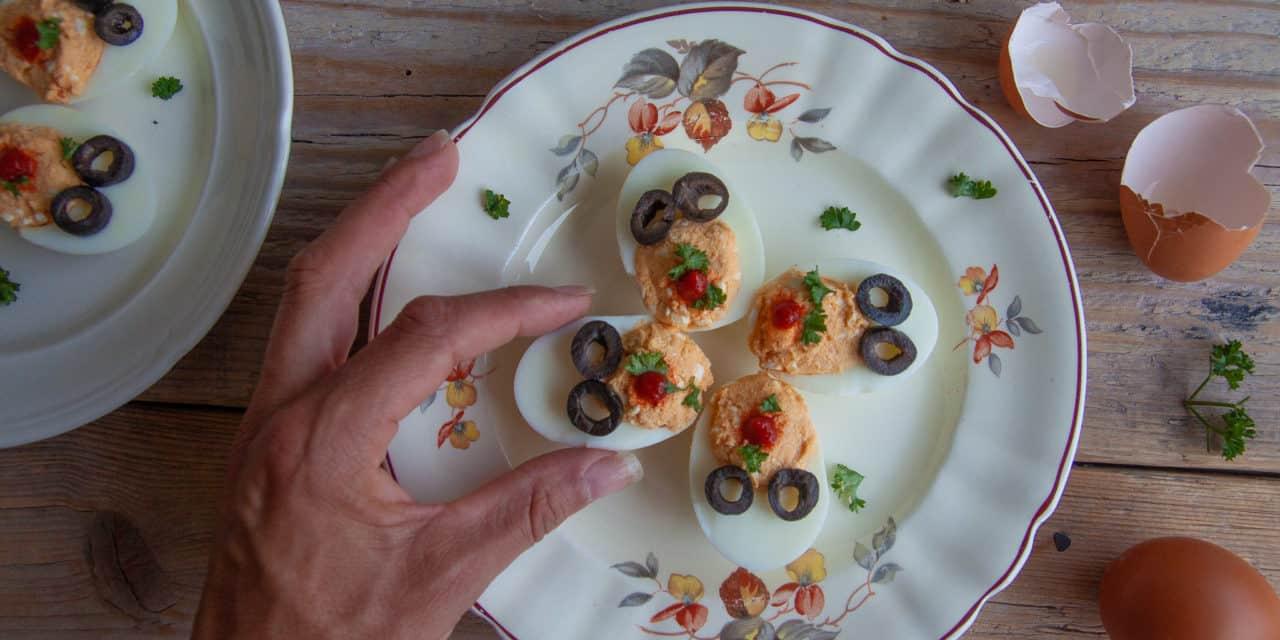 Gevulde eitjes voor bij de borrel!