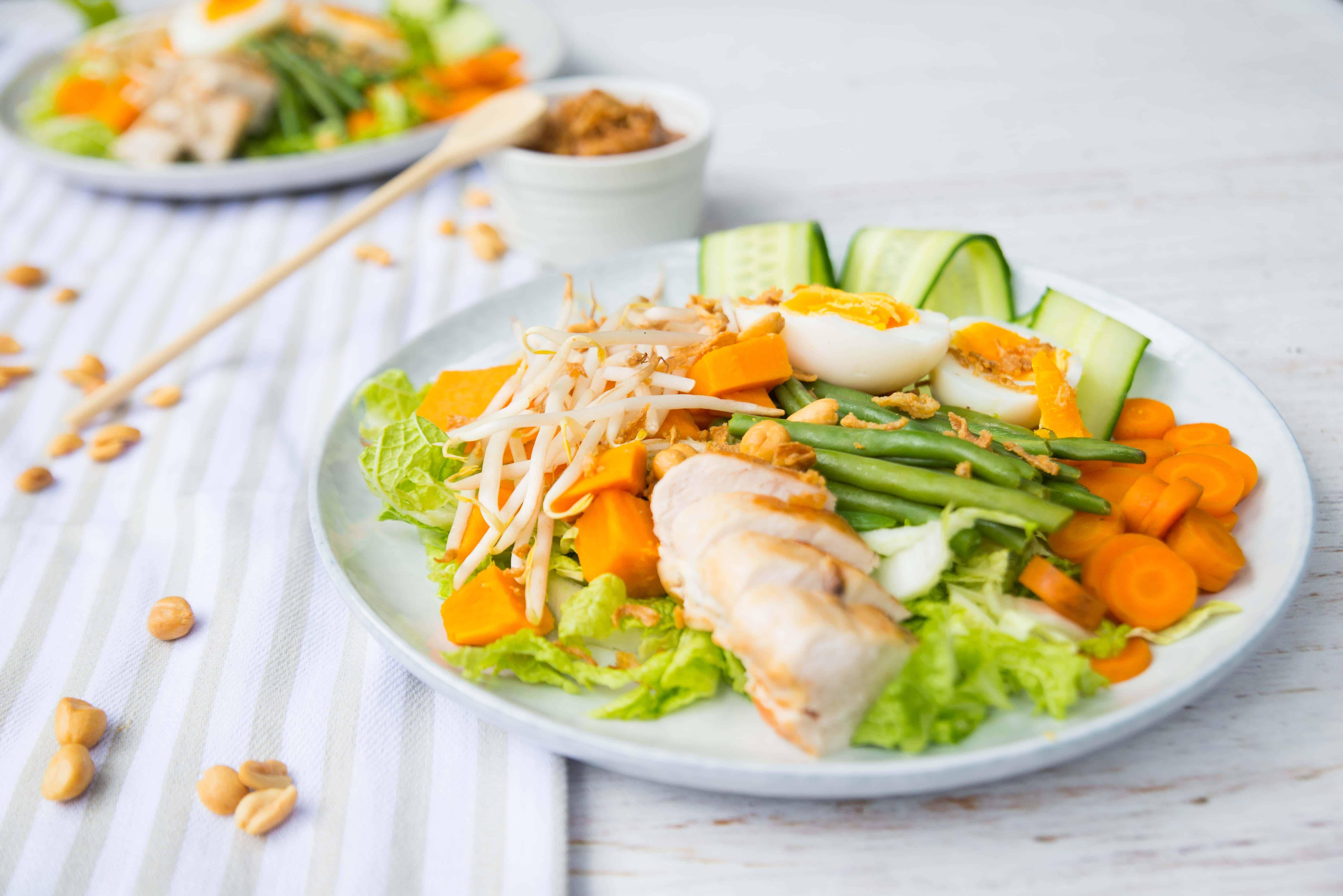 gado gado, recept uit het kookboek Dafne Schippers, kip- en kalkoenrecepten