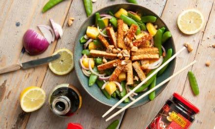 Chinees Nieuwjaar met mangosalade met pittige tempeh
