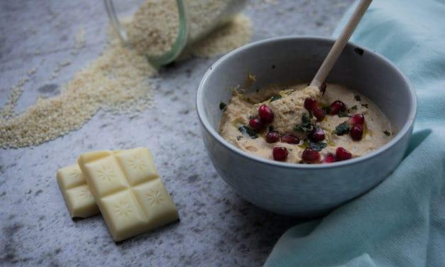 Baba Ganoush met witte chocolade