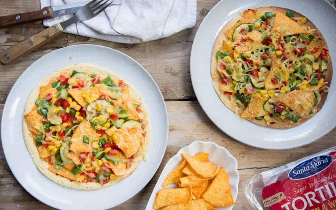De week zonder vlees start je met de Tex Mex crispy corn tortilla pizza!