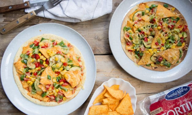 De week zonder vlees start je met de Tex Mex crispy corn tortilla pizza!