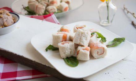 Simpele sandwichrolletjes met zalm