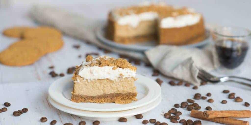 Cheesecake met koffie en kaneel