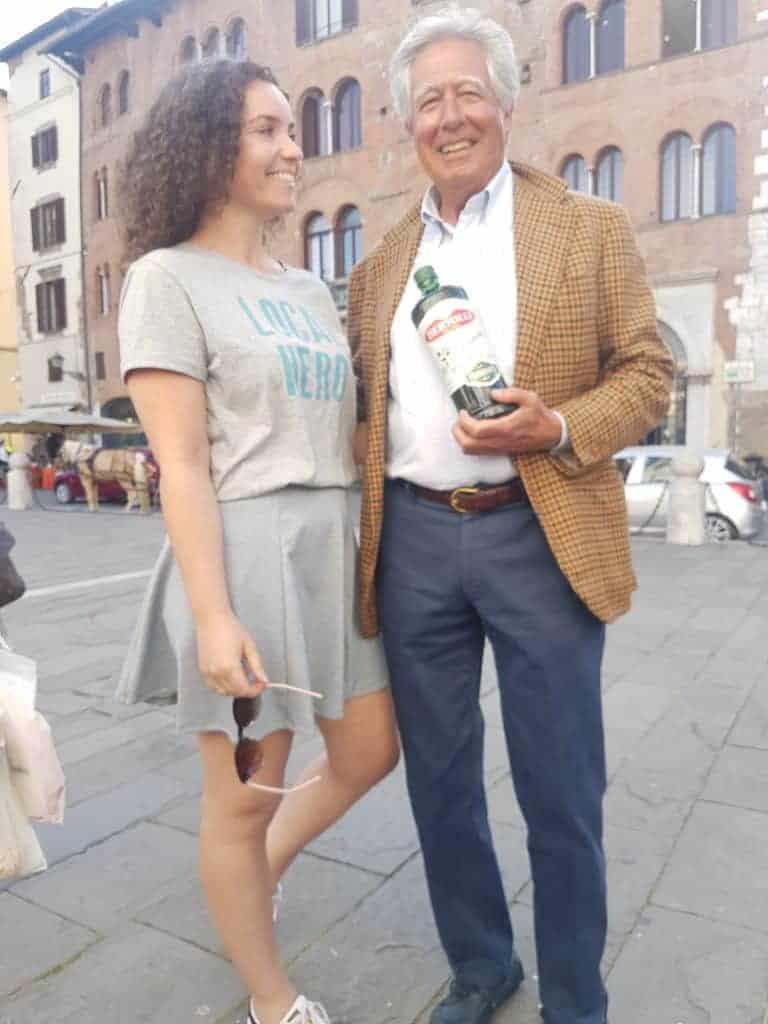 Charlie met Mr. Bertolli Jr.