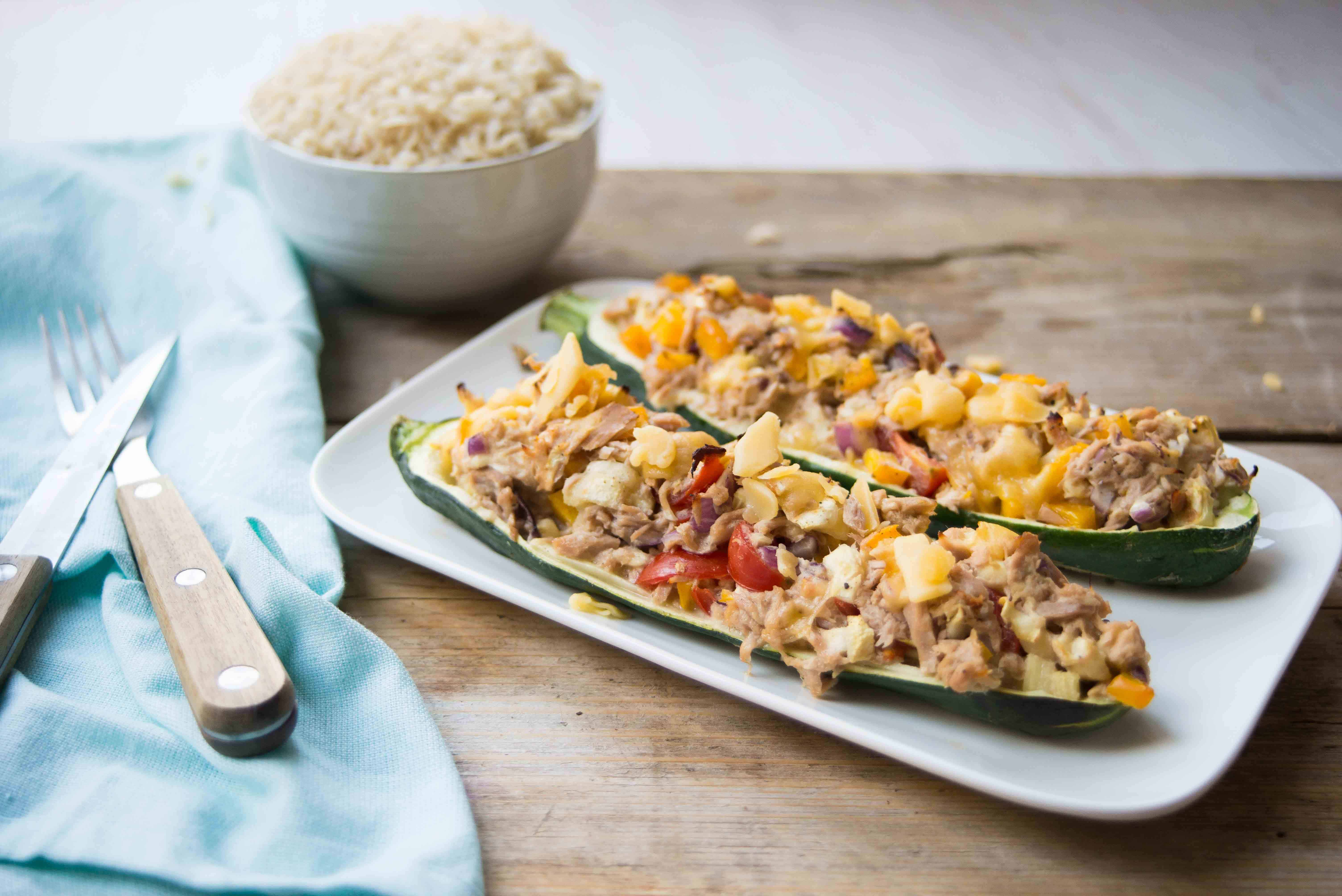 courgettebootjes, tonijn, groenten, Food I Love