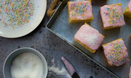 Het recept voor roze koeken uit het Brits Bakboek