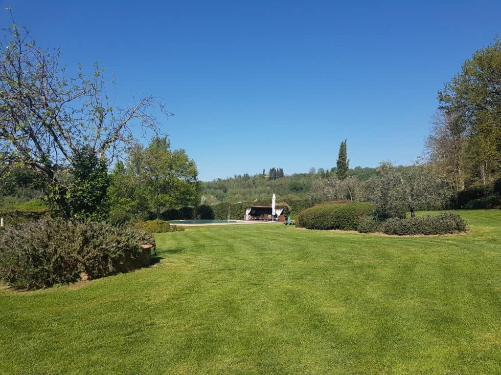 Uitzicht villa Toscane