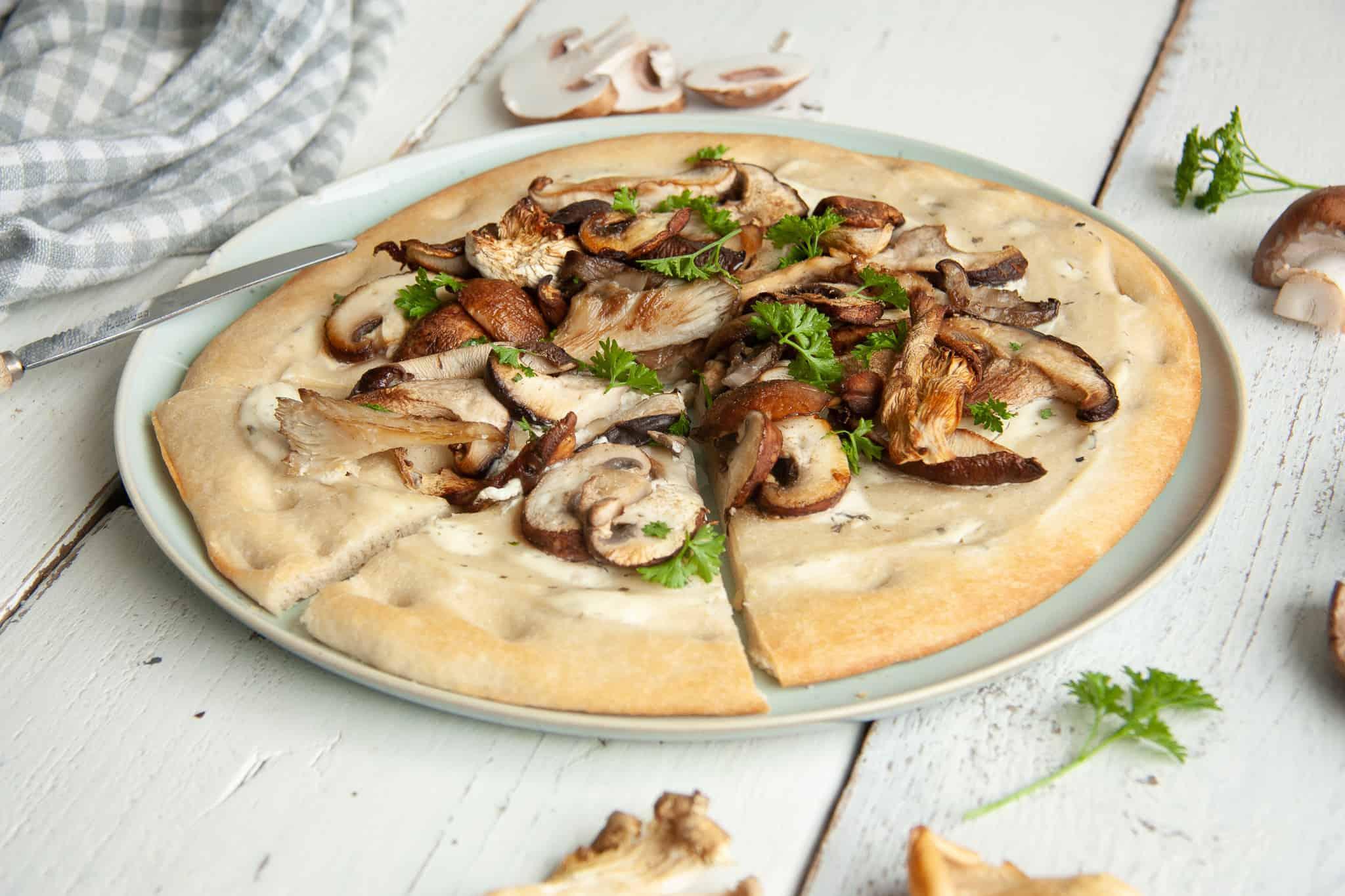 Magioni, pizza funghi, groente pizza, groenten