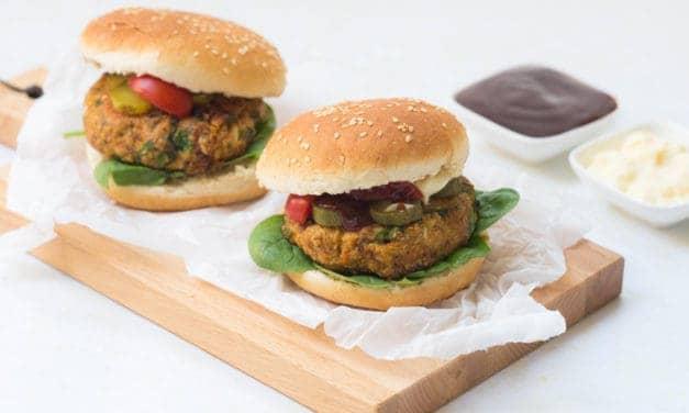 Het recept voor groentenburgers van havermout